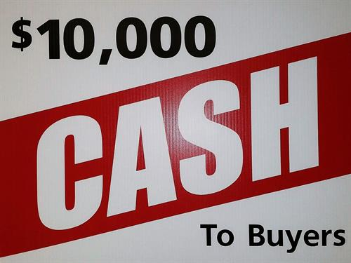 Home Buyers of qualifying home receive Grant from City of $10,000, use as you want!