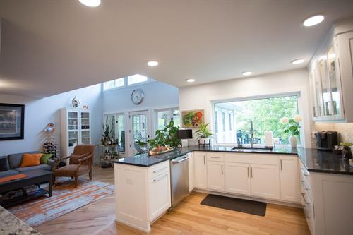 The new kitchen brightened and elevated the whole look and feel of this beautiful home.