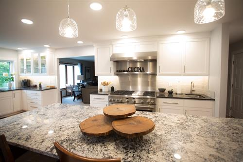 Gourmet dream kitchen created for a trained chef.