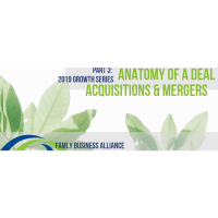 Anatomy of a Deal: Mergers and Acquisitions for the Family Business