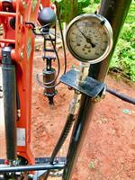 Monitoring PSI/torque while installing pilings