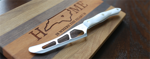 Cutting Board and Cheese Knife Sample
