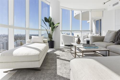 Contemporary Beachfront Penthouse ~ Living Room
