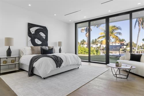 Modern Waterfront Living ~ Master Bedroom