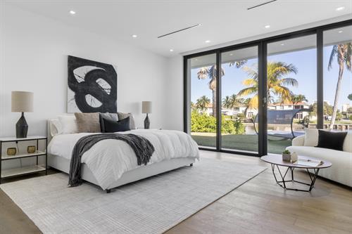 Modern Waterfront Living ~ Master Bedroom