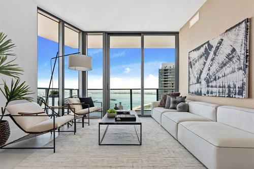 Edgewater Contemporary Living ~ Living Room