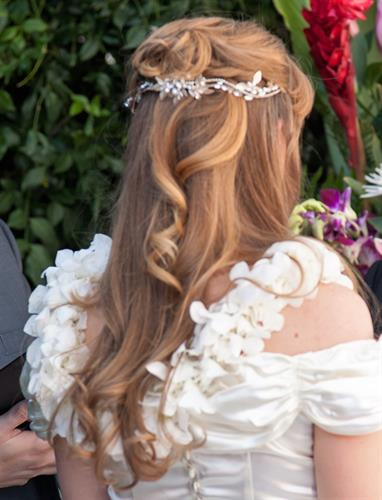 Bridal hair by Owner/stylist - Donna Strachan
