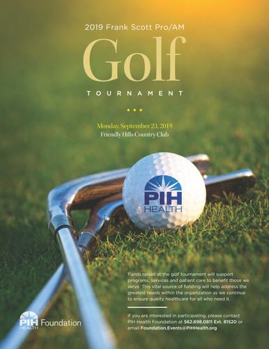 PIH Health Golf Tournament - 2019 Frank Scott Pro/AM - Sep