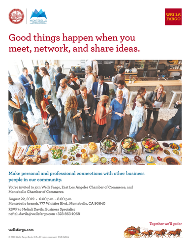 Joint Chamber Mixer - Aug 22, 2019 - Montebello Chamber of Commerce, CA