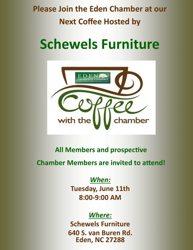 Chamber Coffee Hosted By Schewels Furniture Jun 11 2019 Eden