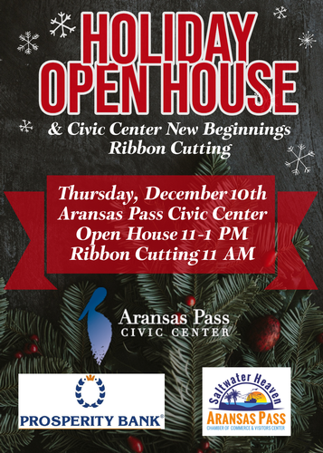 Holiday Open House & Civic Center New Beginnings Ribbon Cutting