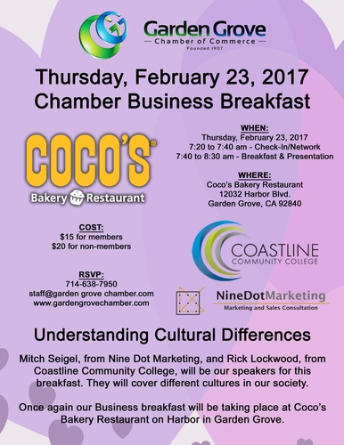 Gg Chamber Monthly Business Breakfast Understanding Cultural Differences Feb 23 2017