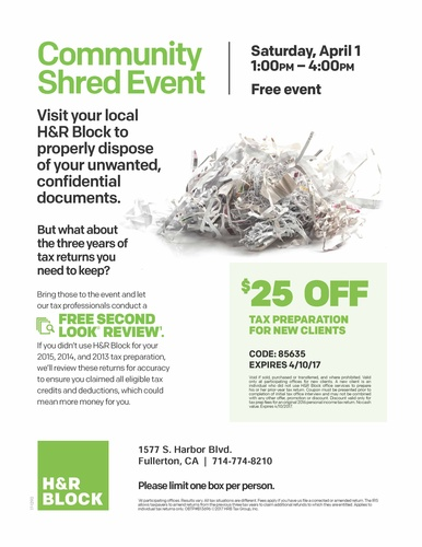 Community Shred Event Apr 1 2017 Garden Grove Chamber Ca