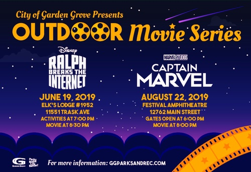 Outdoor Movie Series - Aug 22, 2019 - Garden Grove Chamber, CA