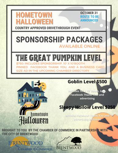 Halloween Brentwood 2020 2020 Drivethrough Hometown Halloween Sponsorships   Oct 31, 2020