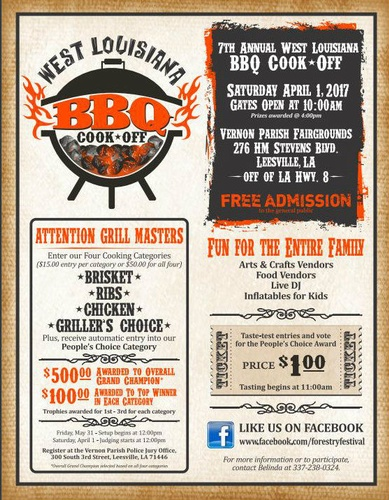 7th Annual West Louisiana Bbq Cookoff Apr 1 2017