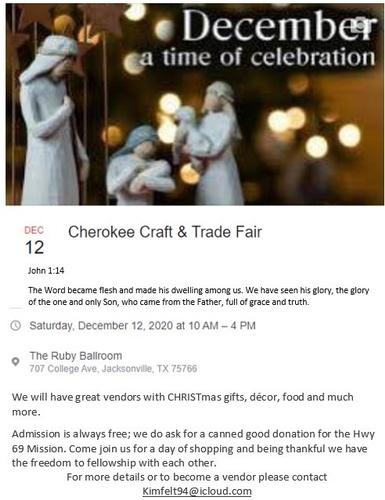 Cherokee Craft & Trade Fair   CHRISTmas Celebration & Shopping