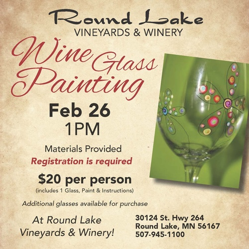 Event description for Wine and painting mn