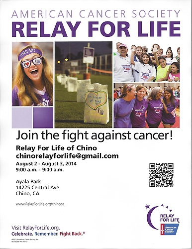 American Cancer Society - Relay for Life - Aug 2, 2014 to ...  American Cancer...