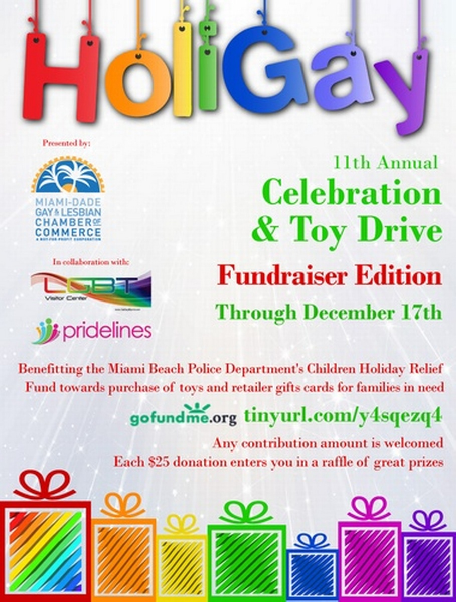 11th Annual HoliGay Celebration & Toy Drive (Fundraiser Edition) ~ through December 17th