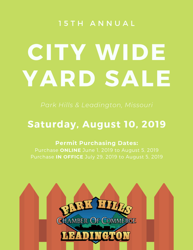 15th Annual City Wide Yard Sale - Aug 10, 2019 - Park Hills