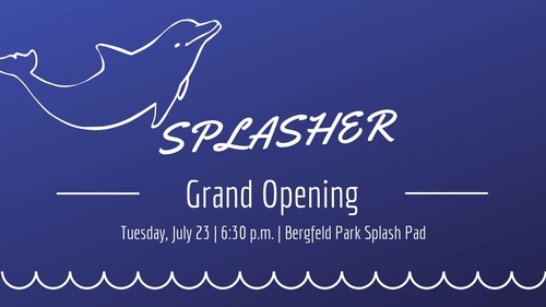 Splasher Grand Opening Blue with dolphin