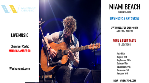 Miami Beach - Live Music & Art Series / Wine & Beer Taste - Jul 18