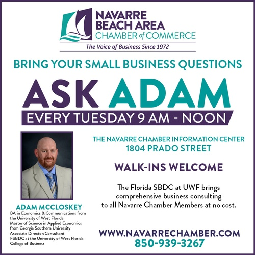 Ask Adam - No Cost & Confidential Small Business Consulting at The Navarre Chamber