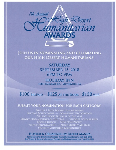 7th Annual High Desert Humanitarian Awards @ Holiday Inn Victorville | Victorville | California | United States