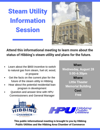 Steam Utility Information Session - Aug 28, 2019