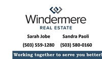 Sandra Paoli - Windermere Western View Properties