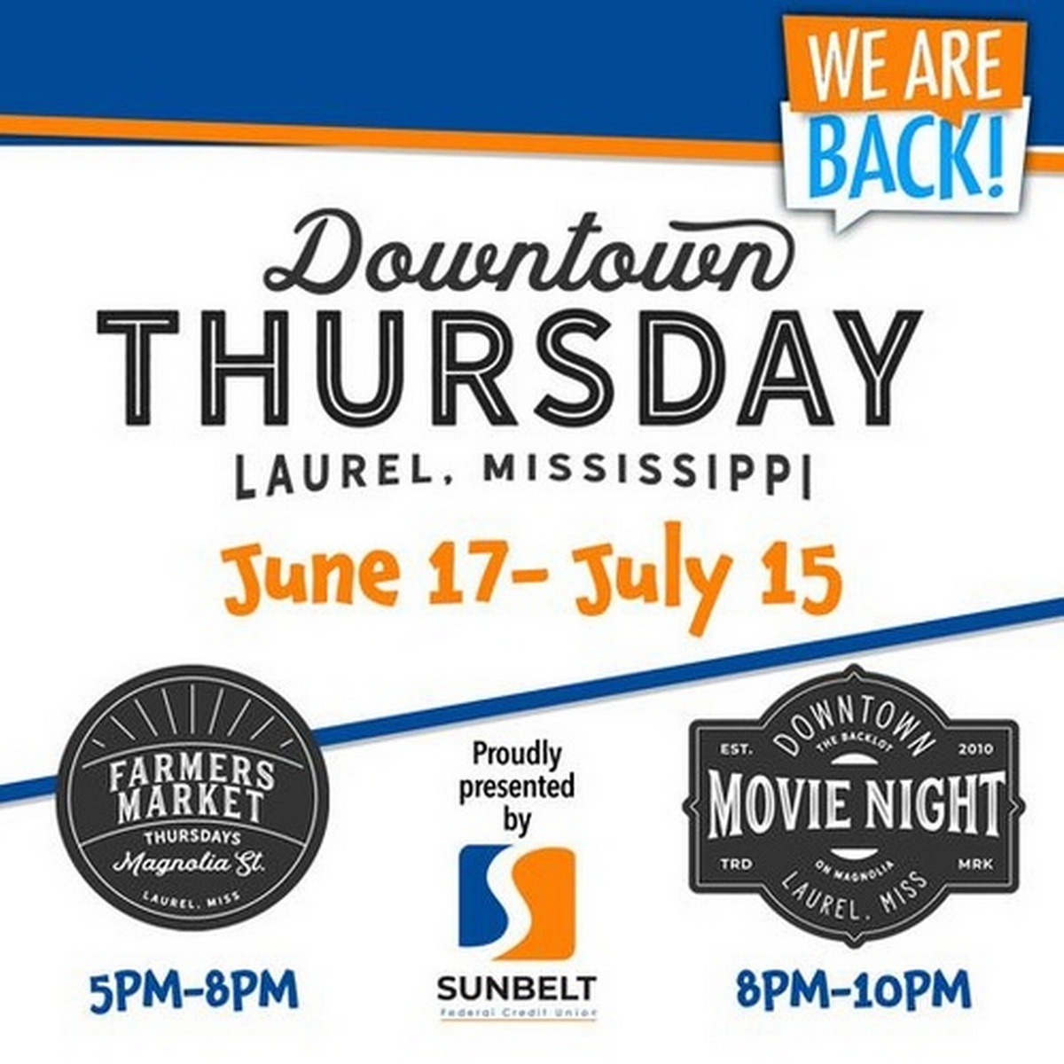 Downtown Thursday: Farmers Market & Downtown Movie Night