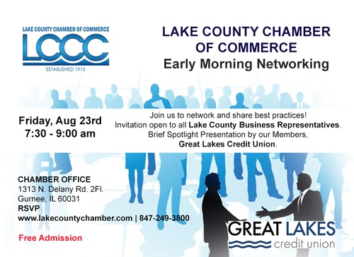 LAKE COUNTY CHAMBER MONTHLY EARLY MORNING NETWORKING EVENT