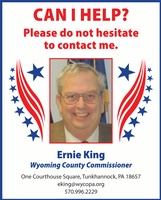 Ernie King Wyoming County Commissioner