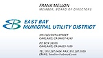 Frank Mellon - EBMUD Director