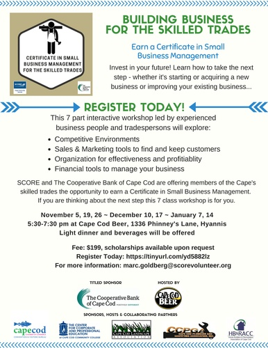 Certificate in Small Business Management for the Skilled Trades ...