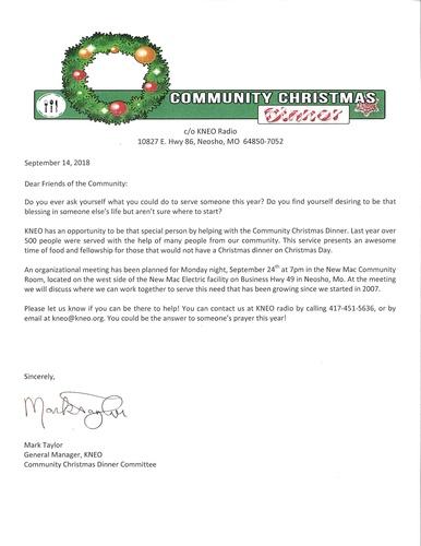 cummunity christmas dinner organizational meeting sep 24 2018 neosho area chamber of commerce mo - Christmas Dinner Blessings