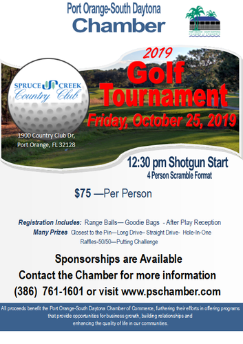Annual Chamber Golf Tournament - Oct 25, 2019 - Port Orange