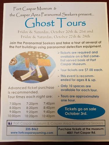 Ghost Tours - Fort Caspar Museum