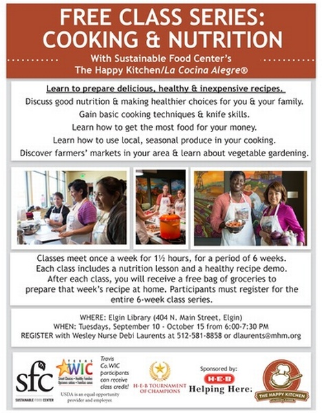 FREE CLASS SERIES: COOKING & NUTRITION With Sustainable Food