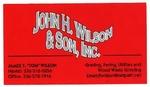 John H. Wilson & Son, Inc.