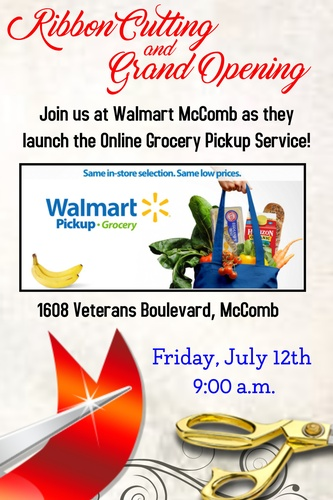 Ribbon Cutting at Walmart of McComb - Jul 12, 2019 - Pike County