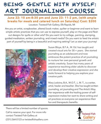 Art Journaling Class: Being Gentle with Myself - Jun 23, 2019 - Elk