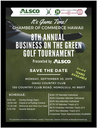 8th Annual Business on the Green Golf Tournament Presented
