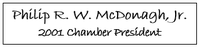 Philip McDonagh - Past President, 2001