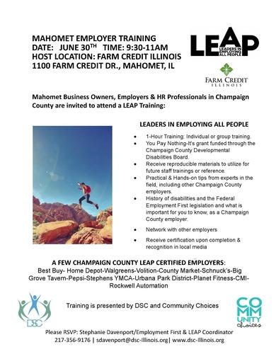 Mahomet Employer LEAP Training