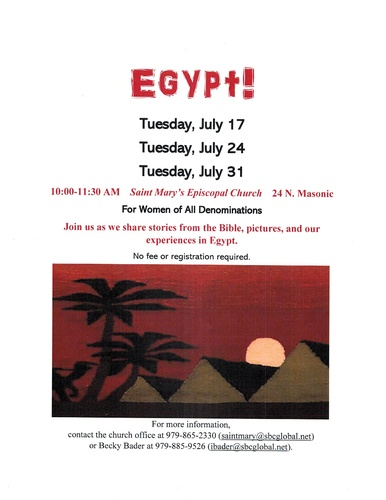 Egypt Stories From The For Women Of All Denominations