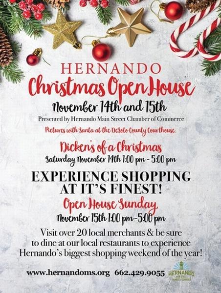 Christmas Open House 2020 Hernando Christmas Open House 2020   Nov 14, 2020 to Nov 15, 2020