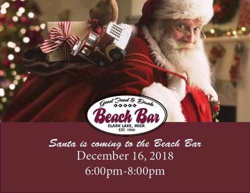 Santa At The Beach Bar