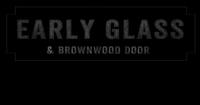 Early Glass and Brownwood Door